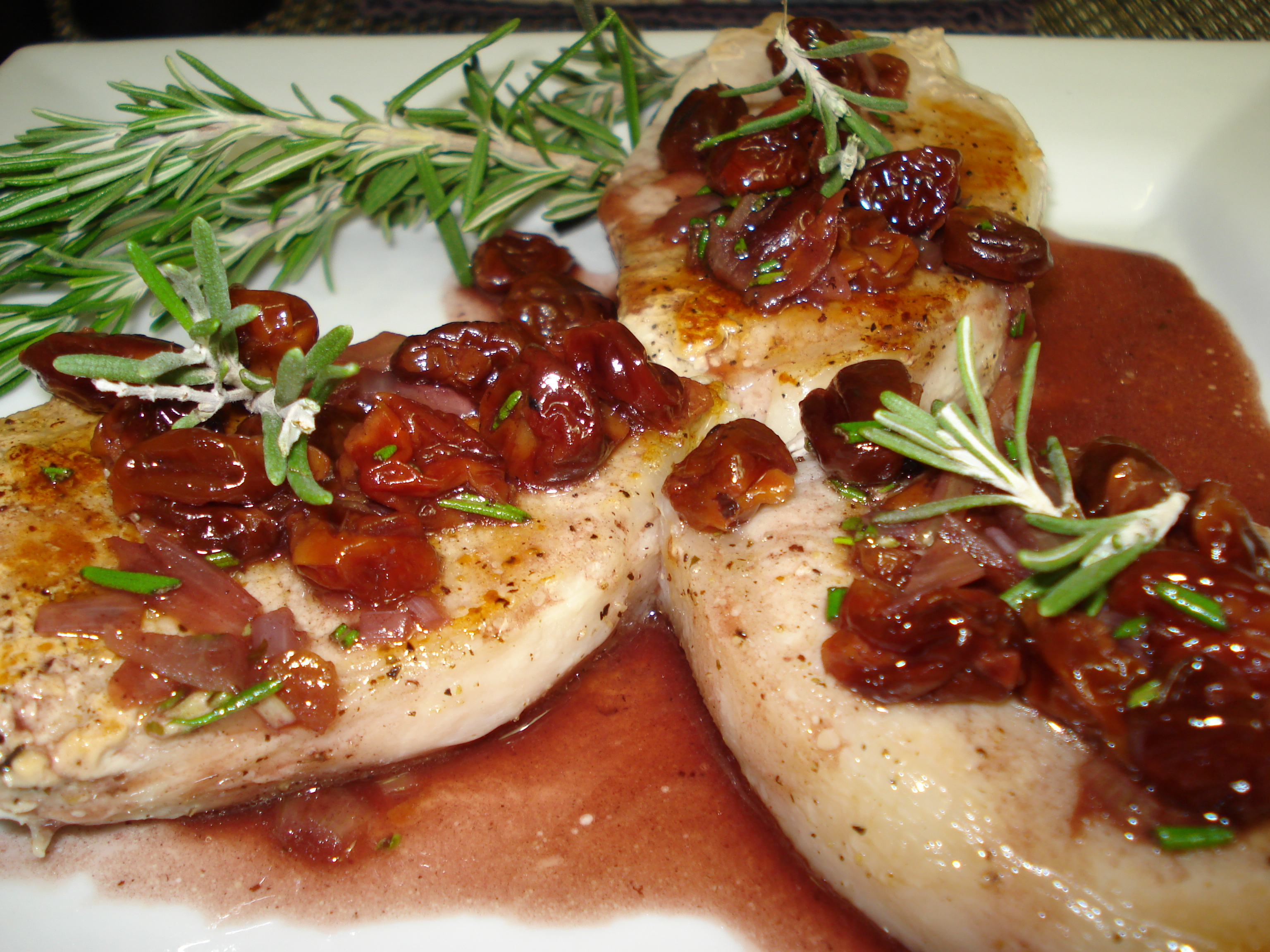 Pork Chops with Port and Cherry Sauce (Port Chops) | Ruby Reduction