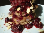 Coconut Flour Pancakes with Berry Reduction