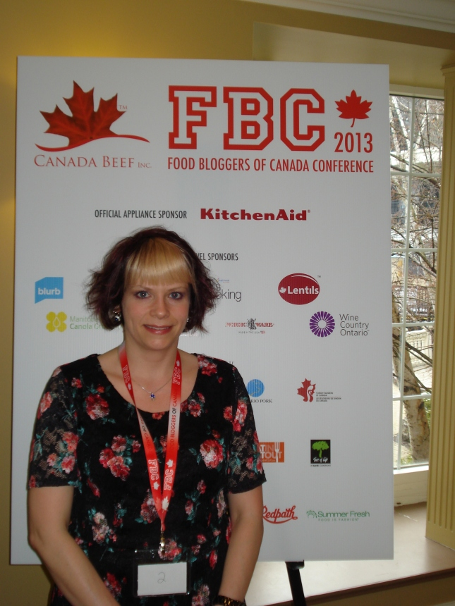 Connie at Food Bloggers of Canada Conference