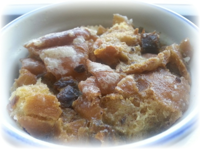 Bread Pudding made with Doughnuts